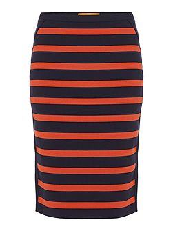 Balanja stripe pencil skirt