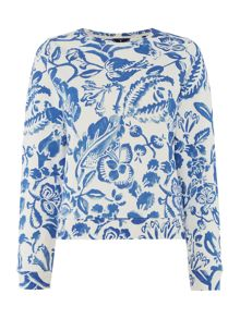Gant Bloom print sweat
