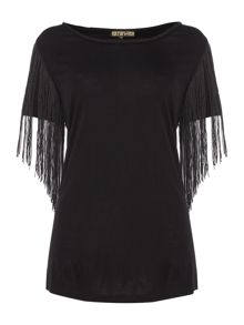 Biba Fringed plait detail t-shirt