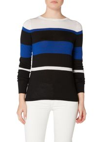 Gant Multi stripe crew neck
