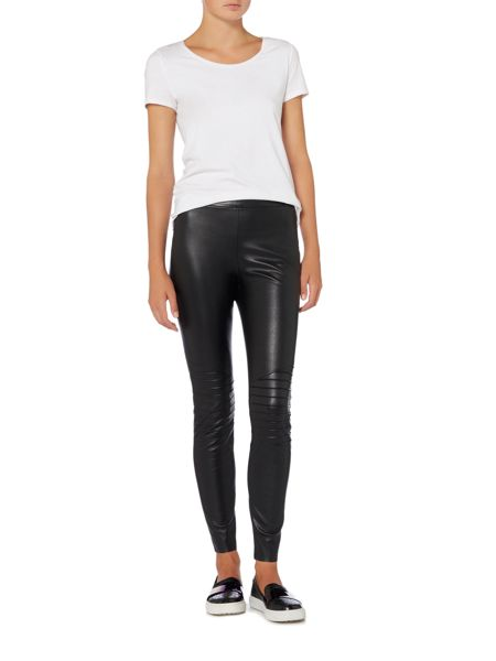 Hugo Boss Saledy faux leather trousers