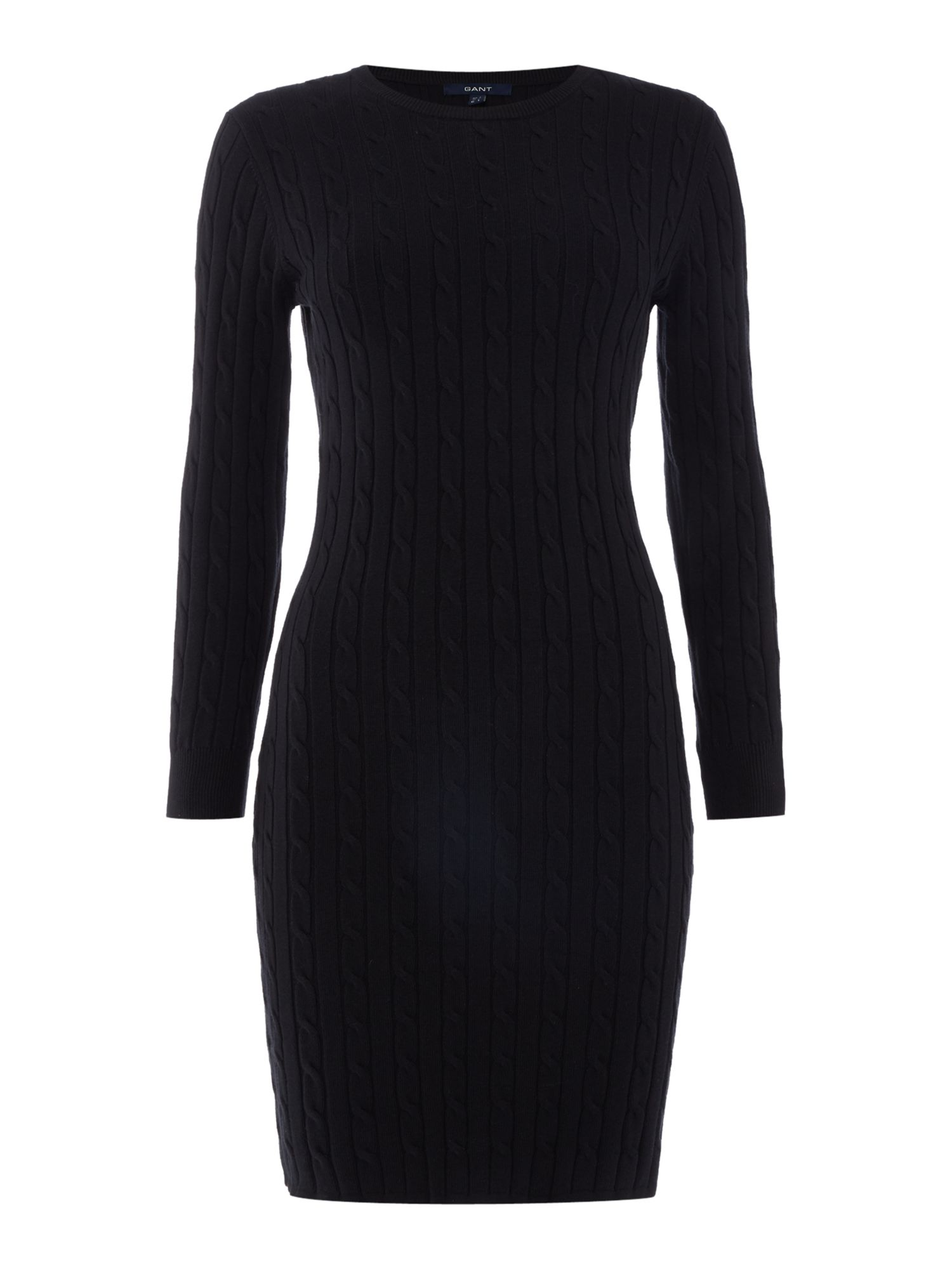 Gant Plain cable knit dress, Blue
