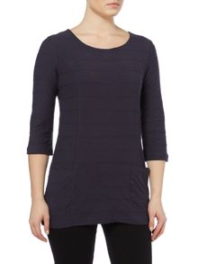 LILY & ME Plain tunic woven top