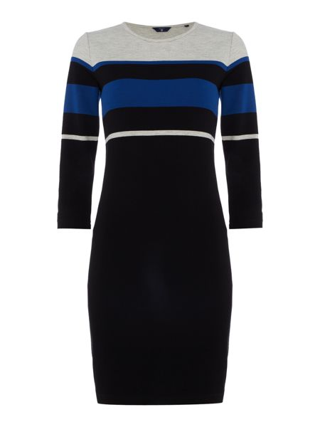 Gant Multi stripe jersey dress
