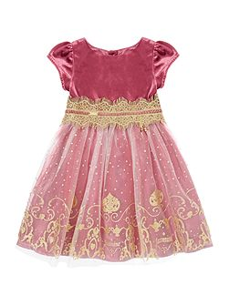 Girls Jasmine Glitter Print Dress