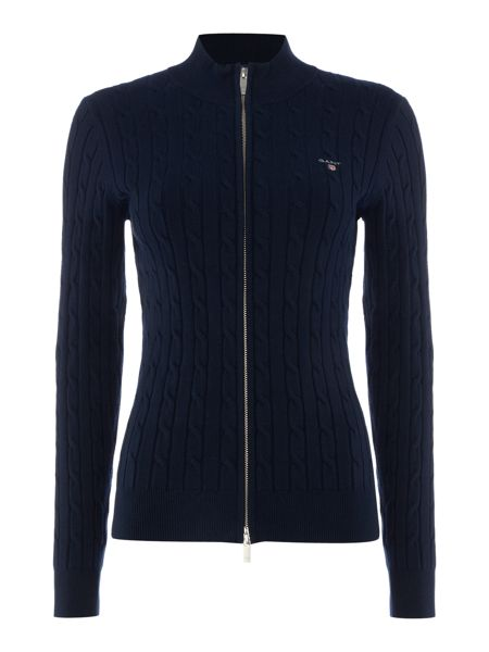 Gant Zip through cable knit jumper