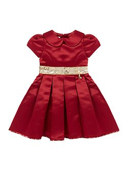 Girls Snow White Satin Dress