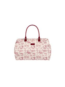 Toile de jouy capsule medium weekend bag