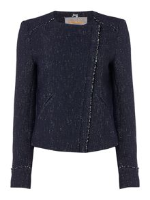Hugo Boss Obeiky textured collarless jacket