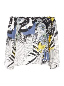 Biba Off the shoulder printed blouse