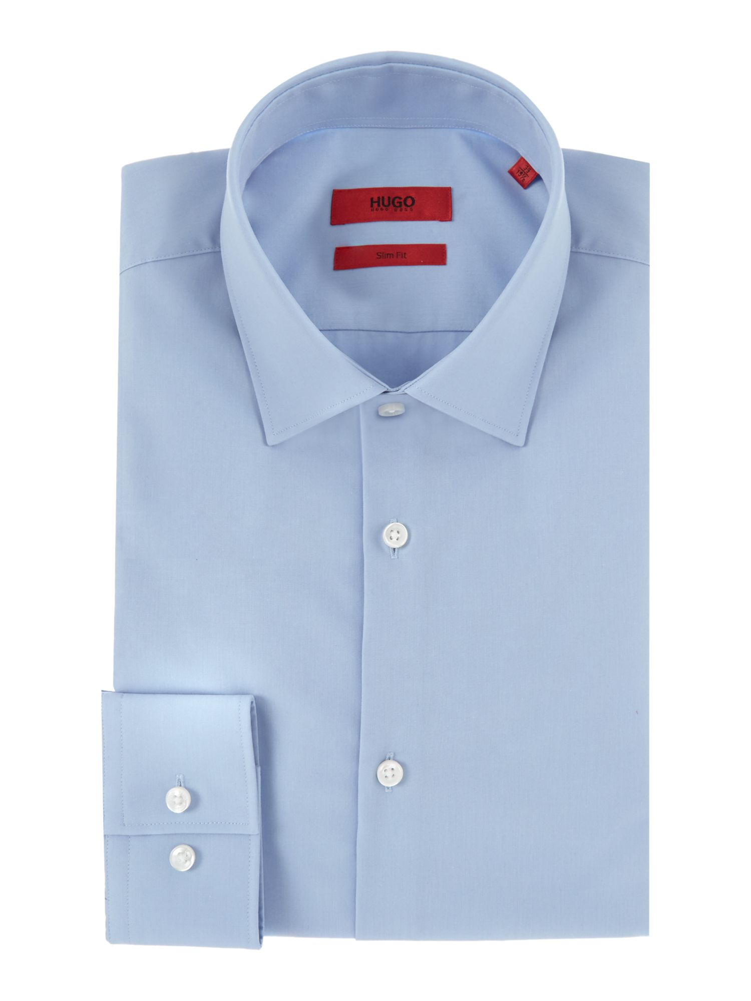 HUGO Men's Hugo Erren Pattern Shirt, Pastel Blue