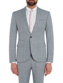 Label Lab Syd Check Skinny Suit Jacket