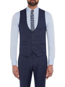 Label Lab Lemmy Check skinny suit waistcoat