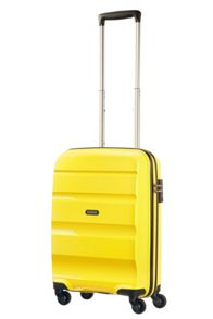 American Tourister Bon Air solar yellow 4 wheel hard cabin suitcase