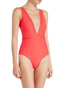 Ted Baker Pointelle deep V swimsuit