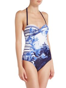 Ted Baker Persian bandeau swimsuit
