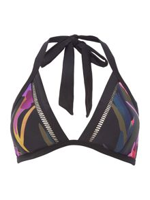 Ted Baker Abstract jungle triangle bikini top