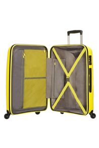 American Tourister Bon air solar yellow 4 wheel hard medium suitcase