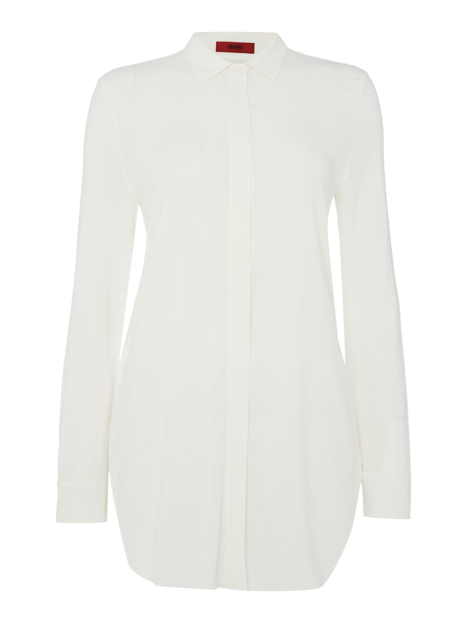 Hugo Longsleeve woven shirt blouse, White
