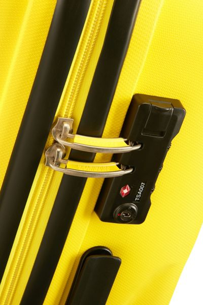 American Tourister Bon Air solar yellow 4 wheel hard large suitcase