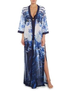 Ted Baker Persian long draped cover up