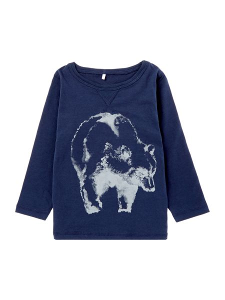 name it Boys Bear Graphic T-shirt