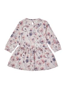 name it Girls Long Sleeve Floral Dress