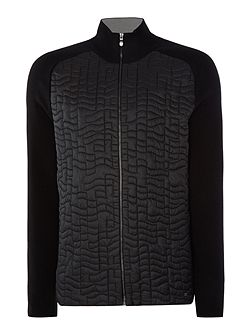 Zina zip-up front nylon detail jumper
