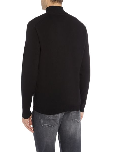 Hugo Boss Zina zip-up front nylon detail jumper
