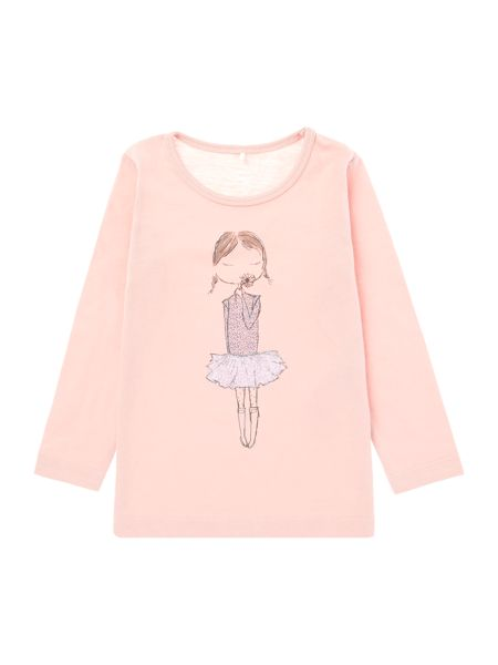 name it Girls Ballerina T-shirt
