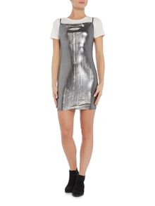 Wal-G Sleeveless drape mini dress