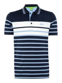 Hugo Boss Paule 3 slim fit bold stripe polo shirt
