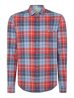 C-Bansi regular fit large check shirt