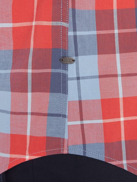 Hugo Boss C-Bansi regular fit large check shirt
