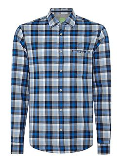 Blumas slim fit gingham checked shirt