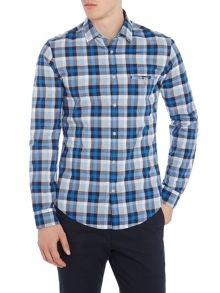 Hugo Boss Blumas slim fit gingham checked shirt