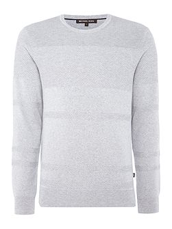 Crew neck textured jumper