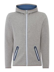 Hugo Boss Skeach zip-up contast zip hoodied sweat top