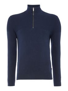 Michael Kors Funnel neck zip detail textured jumper
