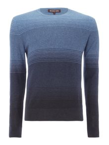 Michael Kors Crew neck ombre striped jumper