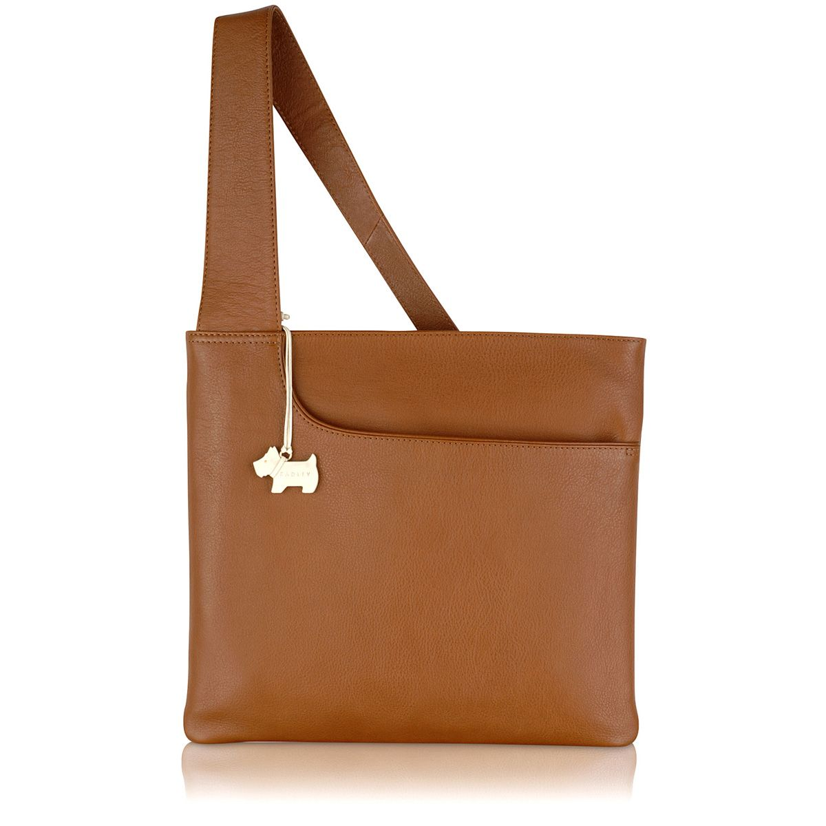 Radley Pocket bag large ziptop acrossbody bag Tan