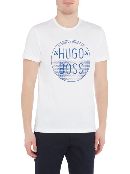 Hugo Boss Large circle graphic logo t-shirt