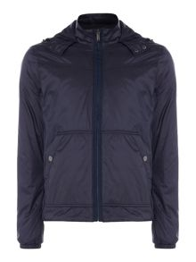 Michael Kors Nylon zip through hooded jacket