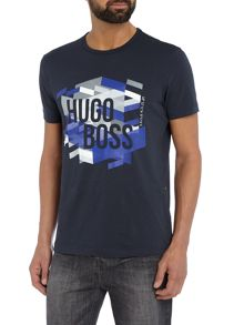 Hugo Boss Graphic logo printed t-shirt