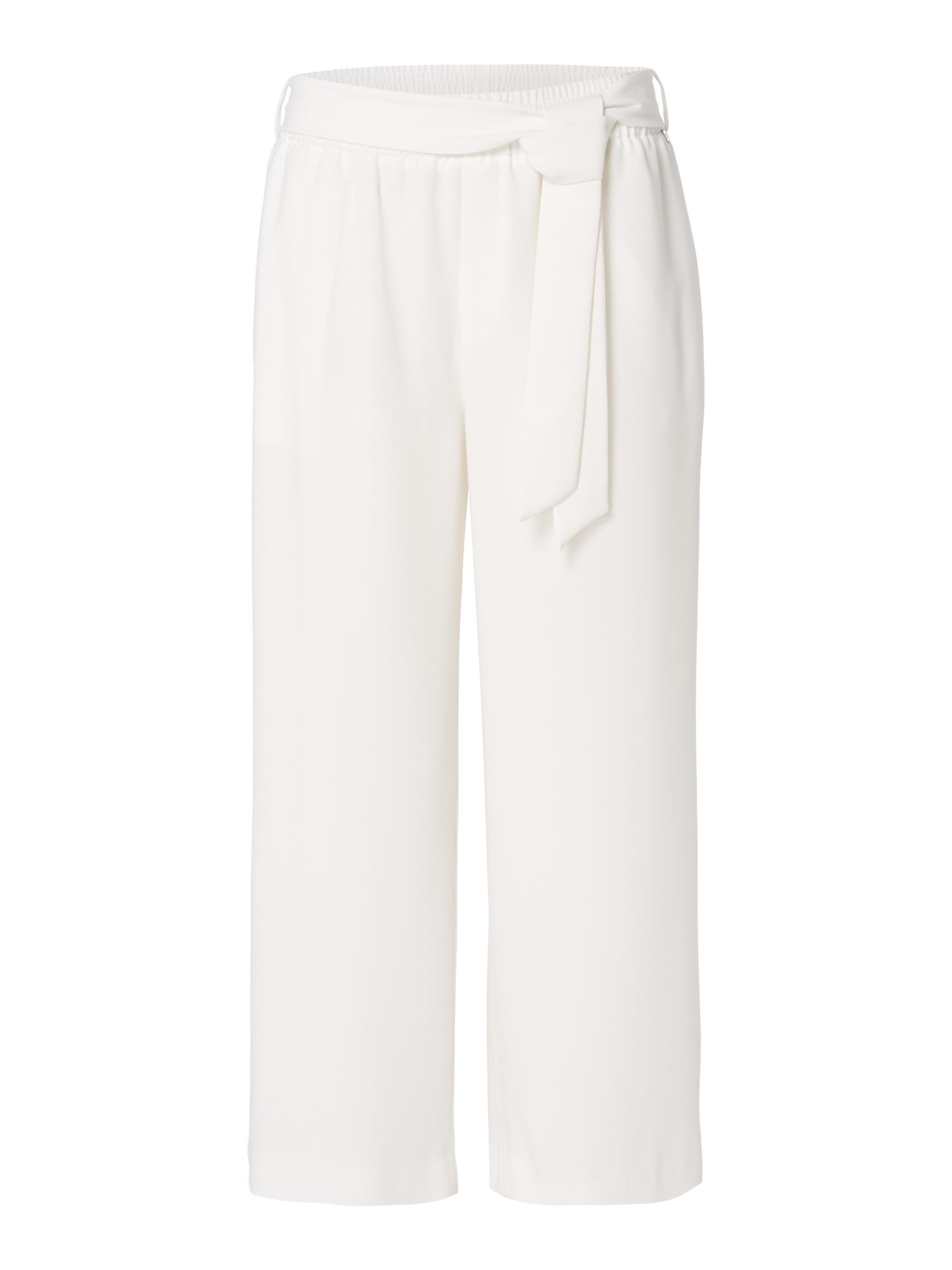 Biba Belted cropped trouser, White