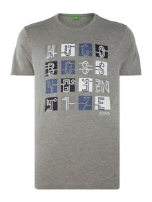 Hugo Boss Square grid graphic printed t-shirt