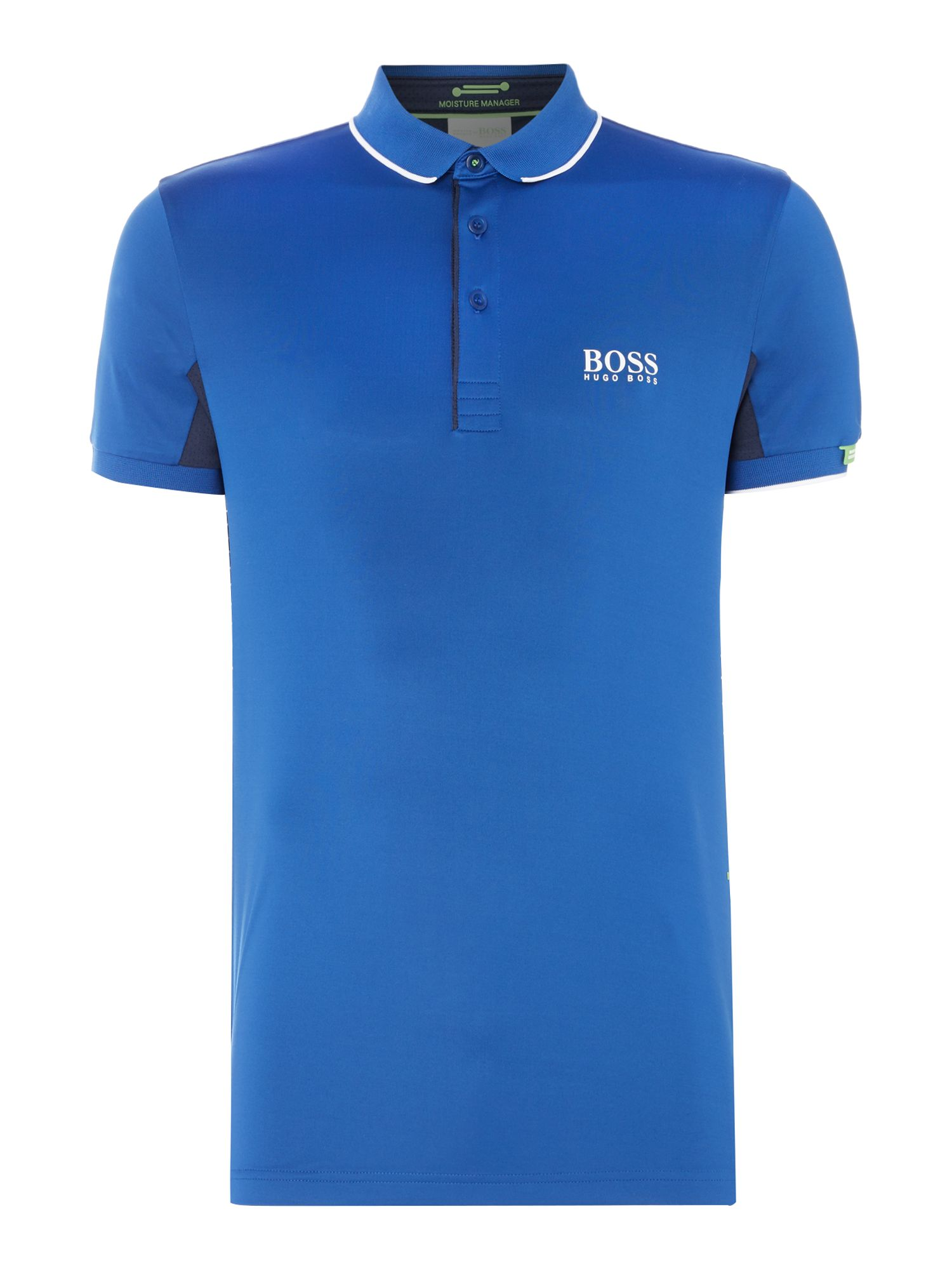 Mens Hugo Boss Golf Paddy MK tipped polo shirt Cobalt