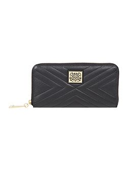 Biba quilted zip around purse