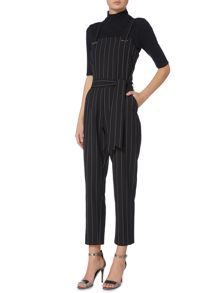 Therapy Metal Trim Pinstripe Jumpsuit