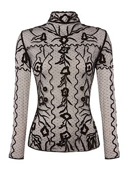 Longsleeve Lace Embroidered Top